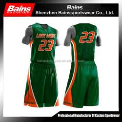 Set style sublimation basketball uniform design for men