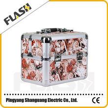 Makeup Artist Small Cosmetic Case/ Aluminum Cosmetic Case
