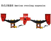 Universial leaf spring doll suspension for trailer chassis