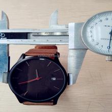 matte black nixoning design mvmt style genuine leather watch