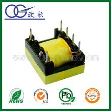 EE19 horizontal toroidal shield transformer,vertical,pin3+3