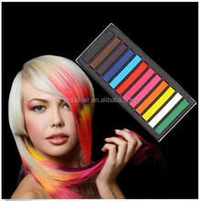 12 colour DIY Hair Chalk Soft Pastels Temporary Dye color Salon Kit Non-toxic