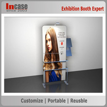 Indoor & outdoor foldable pop up tension fabric banner stand