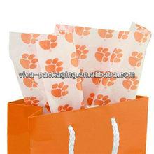 Clemson Tigers White Team Logo Print Tissue Paper
