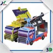 cheap custom OEM plastic car 3d puzzle game