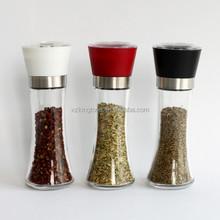 wholesale Pepper Mills,Glass Bottle Salt Mills,Spice Mills with glass bottle