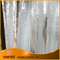 Polyester Sequin Drapery Fabric For Curtains Drapes Valances