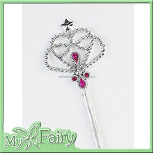 XB-04 2015 silver wand, fairy princess dress up magic wands for kids party accessory for girls