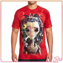 2015 top quality best selling cool design men's round neck t shirt stock T-shirt 3D print