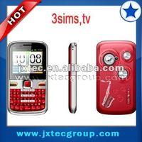 Q5/E5 3sims quadband best chinese gsm cellphone