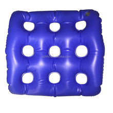 comfort and soft rectangle inflatable booster seat cushion with 9 holes