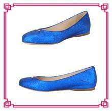 Royal blue glitter flats italian style dress women shoes italian shoes with matching bags italian shoes for women wholesale