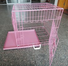 dog puppy pet cage folding carrier crate