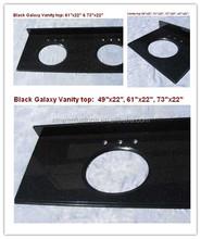 hot sale from China Black grante bathroom vanity tops, granite vanity top