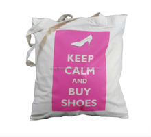 2015 Factory directly supply customized cotton canvas tote bag/printed green canvas bag