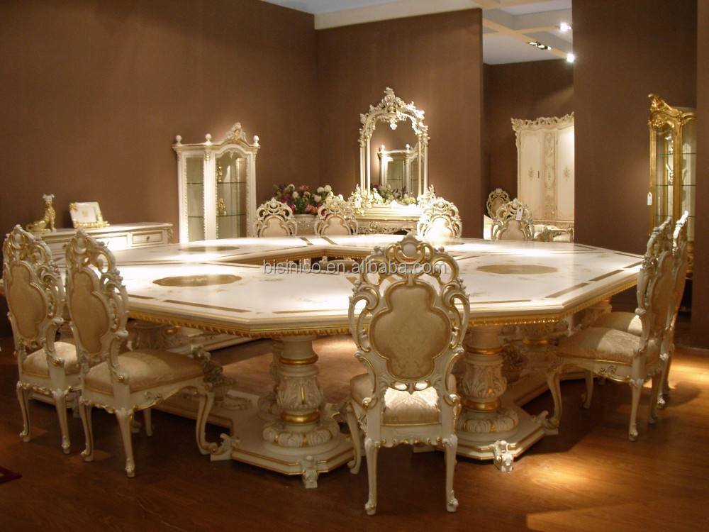 Bisini european style luxury dining room set dining room for Luxury dining room furniture