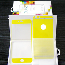 LUCK COLOR! the yellow luck color tempered glass screen protector for iphone