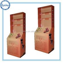 promotional tea cardboard display,cardboard standing display for tea