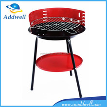 Mini triangle portable charcoal bbq grill with retractable height