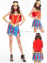 Mujer maravilla ladies superhéroe vestido de lujo súper mujeres Super Girl traje de superhéroe
