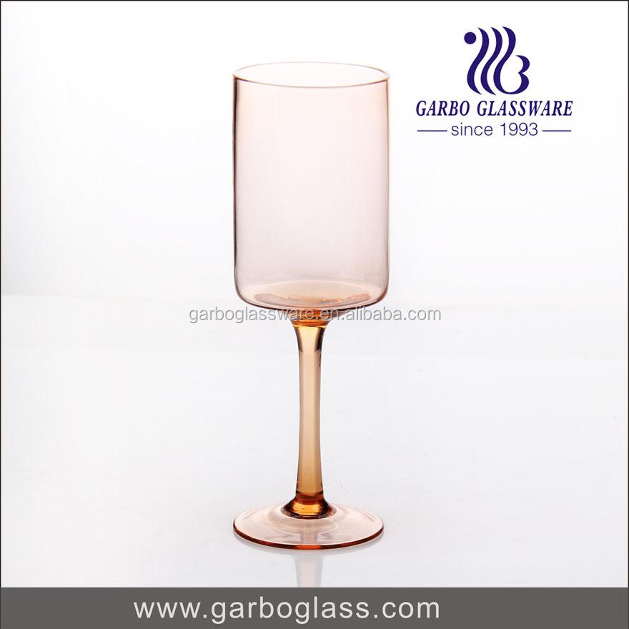 18 oz orange couleur fait à la main verrerie avec haute qualité pour festival à l'aide, écologique gobelet en verre