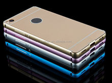 Newest 2 in1 Aluminum Metal bumper + Hard Plastic Acrylic Backplane cover case for huawei ascend p8 lite china suppliers