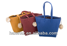 2014 Korean Style Wool Felt Rabbit Fur Hobo Bag Handbags