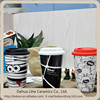 Diy Halloween gift sublimation ceramic coffee mug with silicon lid