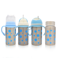 4 in 1 Thermos Stainless Steel Baby Feeding Bottle/200ML stainless steel vacuum bottle