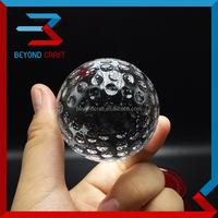 ball shape crystal golf ball bulk sale,40mm glass golf ball