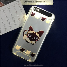 HOT SELLING Coming Call LED Flash Light up Transparent cell phone Case