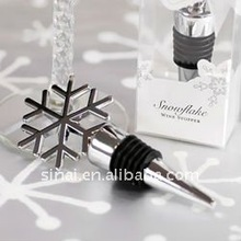 Wedding Gifts Silver Snowflake Wine Bottle Stopper