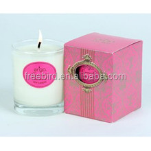 Romantic Scented Soy Candle in glass with gift box