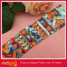 The hot sale top 100 design 100% polyester pretty fair fascinating sequin fabric cuddle fabric