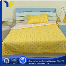 bright color fashion design plain polycotton handmade bed sheets