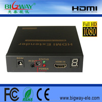 Best selling top quality HDMI Extender over Single 100m Coaxial with IR/ir remote extender HDMI 1.3 HDCP1.1 1080P support 48KHz