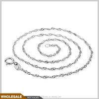 wholesale 925 sterling silver necklace chain 45 cm longth