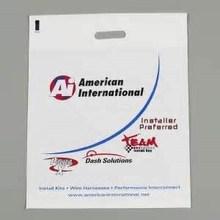Direct Sales Plastic Bag Manufacturer PO PE Die Cut Elegant Punch Plastic Bag