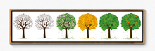 Hot selling beautiful canvas modern oil painting trees