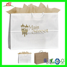 NZ028 Fancy Paper Shopping Bag 16x12 Vegas Uptown Striped Paper Bag Logo with Handle