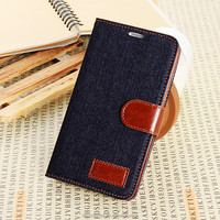 High Quality PU Leather Credit ID Card Holder Foldable Leather Flip Cover for Samsung galaxy Note3 case,for samsung N9000