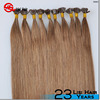 Double drawn remy wholesale keratin hair extensions