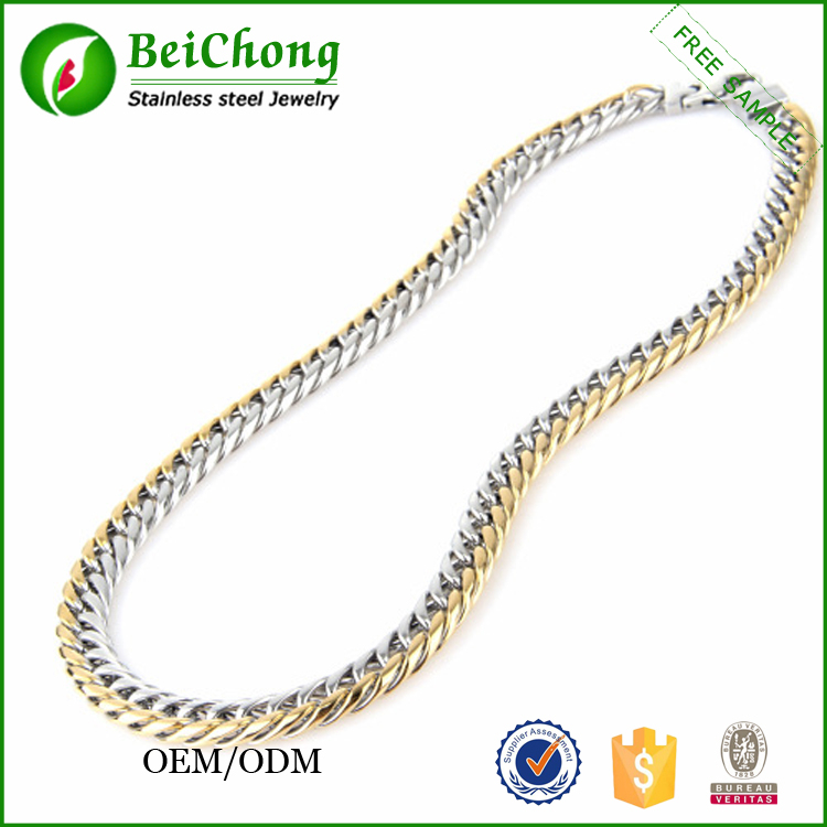 Latest Fashion Silver And Gold Long Chain Necklace