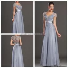 Zarif güzel dantel üst anne gelin elbise, bohem tarzı anne gelin elbise, gri dantel elbise gelinin annesi