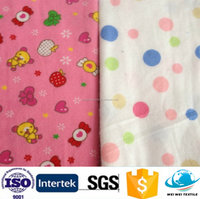 free sample of printed flannel fabric double-sided/100 cotton woven nightgown flannel fabric