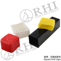 Different sizes plastic square and round vinyl caps and plugs