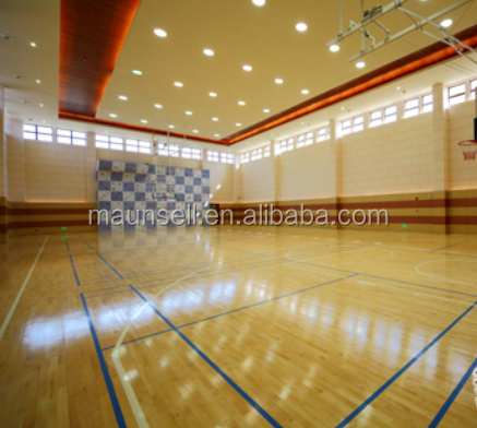 Pvc sports floor for indoor basketball court in roll for Indoor basketball court flooring cost