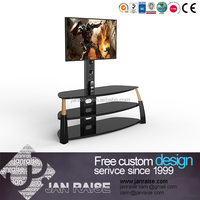 Reliable and High quality modern tempered glass tv stand