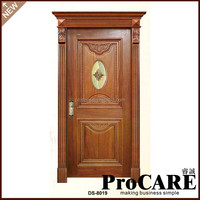 Wholesale China Solid Teak Cheap Price Interior Pvc Wooden Doors