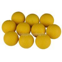 10шт гольф Крытый начинающих практикующих мягкое обучение h1e1 пу желтый шар шары